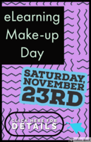 11/19 eLearning Make-Up Day Reminder